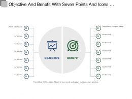 Objective And Benefit With Seven Points And Icons Ppt Templates