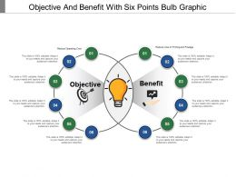 Objective And Benefit With Six Points Bulb Graphic
