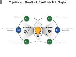 Objective And Benefit With Three Points Bulb Graphic