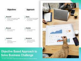 Objective Based Approach To Solve Business Challenge