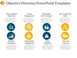 Objective Direction Powerpoint Templates