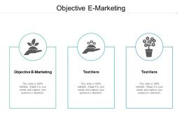 Objective E Marketing Ppt Powerpoint Presentation Icon Format Ideas Cpb