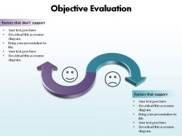 objective evaluation using smiley faces happy sad ppt slides presentation diagrams templates powerpoint info graphics