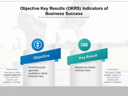Objective Key Results OKRS Indicators Of Business Success