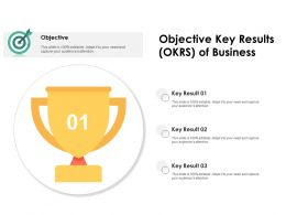 Objective Key Results OKRS Of Business