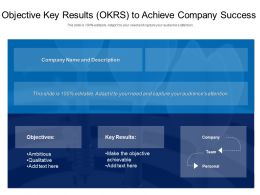Objective Key Results OKRS To Achieve Company Success
