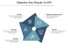 Objective Key Results Vs KPI Ppt Powerpoint Presentation Infographic Template Brochure Cpb