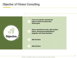 Objective Of Fitness Consulting Fitness Goals Ppt Powerpoint Presentation Tips
