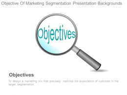 Objective Of Marketing Segmentation Presentation Backgrounds