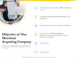 Objective Of Our Merchant Acquiring Company Ppt Powerpoint Gallery Styles