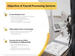Objective Of Payroll Processing Services Business Ppt Powerpoint Presentation Styles Clipart