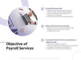 Objective Of Payroll Services Cost Ppt Powerpoint Presentation Picture