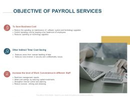 Objective Of Payroll Services Ppt Powerpoint Presentation Infographics
