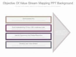Objective Of Value Stream Mapping Ppt Background