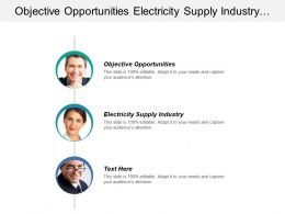 Objective Opportunities Electricity Supply Industry Product Technology Development