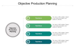 Objective Production Planning Ppt Powerpoint Presentation Layout Cpb