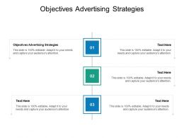 Objectives Advertising Strategies Ppt Powerpoint Presentation Model Deck Cpb