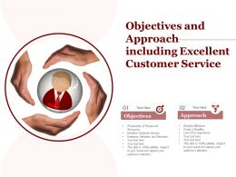 Objectives And Approach Including Excellent Customer Service
