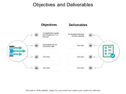 Objectives And Deliverables