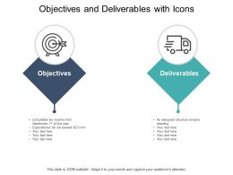 Objectives And Deliverables With Icons