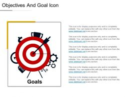 Objectives And Goal Icon Ppt Infographics