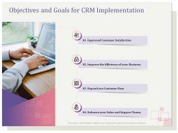 Objectives And Goals For CRM Implementation Satisfaction Ppt File Slides
