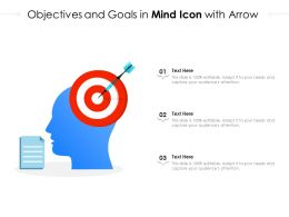 Objectives And Goals In Mind Icon With Arrow