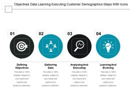 Objectives Data Learning Executing Customer Demographics Steps With Icons