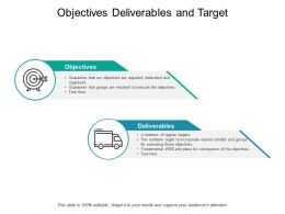 Objectives Deliverables And Target