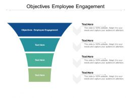 Objectives Employee Engagement Ppt Powerpoint Presentation Portfolio Infographic Template Cpb