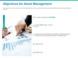Objectives For Asset Management Invest Ppt Powerpoint Presentation Infographics