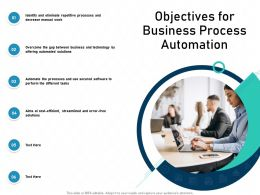 Objectives For Business Process Automation Aims Errors Powerpoint Presentation Outfit