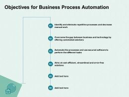Objectives For Business Process Automation Aims Ppt Powerpoint Presentation Professional Designs Download