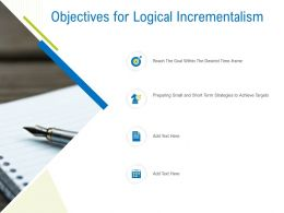 Objectives For Logical Incrementalism Ppt Powerpoint Presentation Styles