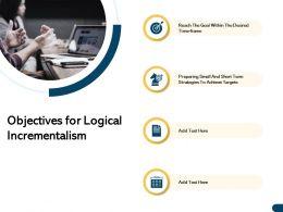 Objectives For Logical Incrementalism Short Ppt Powerpoint Presentation Portfolio Slides