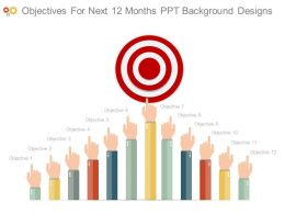 Objectives For Next 12 Months Ppt Background Designs
