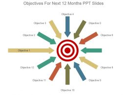 Objectives For Next 12 Months Ppt Slides