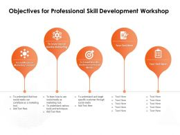 Objectives For Professional Skill Development Workshop Marketing Tool Ppt Powerpoint Presentation Examples