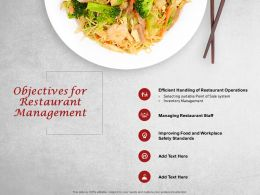 Objectives For Restaurant Management Operations Ppt Presentation Visual Example 2015