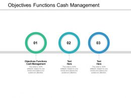 Objectives Functions Cash Management Ppt Powerpoint Presentation Infographics Themes Cpb