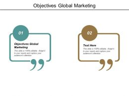 Objectives Global Marketing Ppt Powerpoint Presentation Model Information Cpb