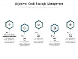 Objectives Goals Strategic Management Ppt Powerpoint Presentation Gallery Objects Cpb