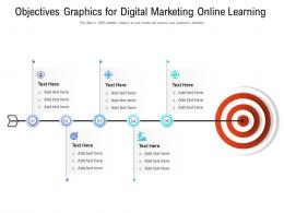 Objectives Graphics For Digital Marketing Online Learning Infographic Template