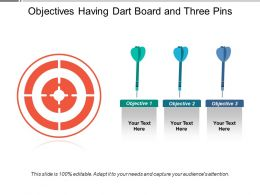 Objectives Having Dart Board And Three Pins