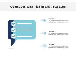 Objectives Icon Arrow Target Graph Box Tick