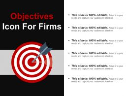 Objectives Icon For Firms Ppt Presentation