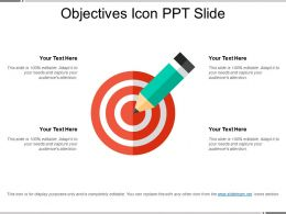 Objectives Icon Ppt Slide