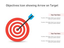 Objectives Icon Showing Arrow On Target