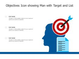 Objectives Icon Showing Man With Target And List