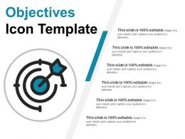 Objectives Icon Template Ppt Sample Download